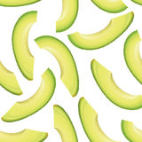 Thinly sliced pieces avocado. Seamless background royalty free illustration