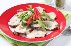 Thinly sliced pork tenderloin Royalty Free Stock Image