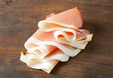 Thinly sliced prosciutto Royalty Free Stock Image