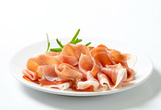 Thinly sliced prosciutto Royalty Free Stock Images