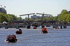 thiny阿姆斯特丹的桥梁 免版税库存照片