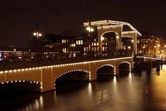 Thiny Brücke in den Amsterdam-Niederlanden Stockfotografie
