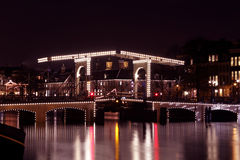 Thiny Brücke in Amsterdam die Niederlande Stockfotos