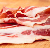 Thiny Sliced Spanish Jamon Royalty Free Stock Images