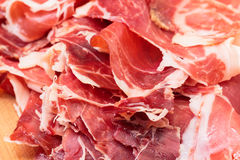 Thiny Sliced Spanish Jamon Stock Image