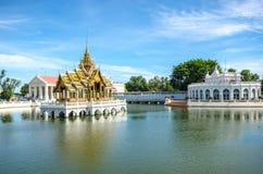 Thipya-art d'Aisawan de douleur de coup au palais d'été royal Image stock