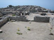 Thira antico, Santorini Fotografie Stock Libere da Diritti