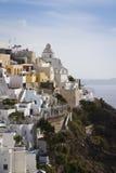Thira bonito, Santorini Fotografia de Stock Royalty Free