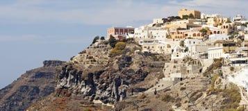 Thira a capital de Santorini imagens de stock