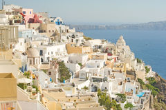 Thira capital of  Santorini. Royalty Free Stock Photos