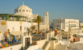 Thira Cathedral Santorini. Royalty Free Stock Photography