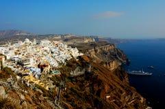 Thira (Fira) in Santorini, Grecia Fotografia Stock