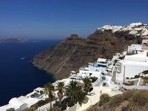 Thira miasteczko Santorini Zdjęcia Royalty Free