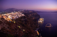 Thira at night Stock Image