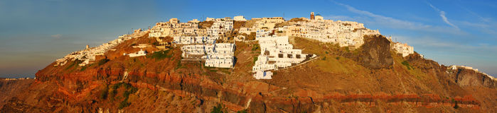 Thira panorama, Santorini island Stock Photo
