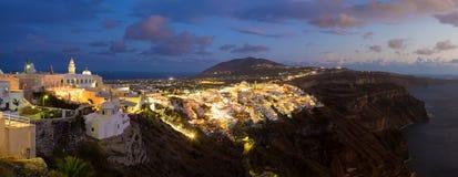 Thira, Santorini, Греция стоковая фотография