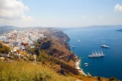Thira, Santorini, Grecia fotografia stock