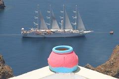 Thira, Santorini, Grecia Immagine Stock Libera da Diritti