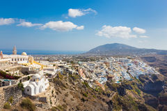 Thira, Santorini, Greece. Royalty Free Stock Images