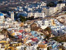 Thira, Santorini, Greece, Sunsrt Stock Photography