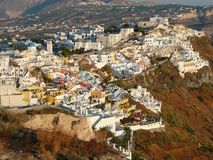 Thira, Santorini, Greece, Sunsrt Stock Image