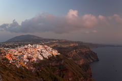 Thira and Santorini island view Stock Photo