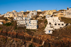 Thira sunset, Santorini, Greek Islands Royalty Free Stock Photos