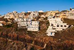 Thira sunset, Santorini, Greek Islands royalty free stock photos