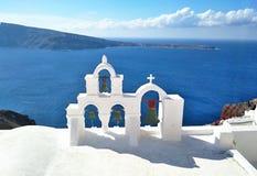Thira, Thera, isola di Santorini, Grecia immagine stock