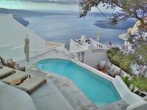 Thira Thera, Santorini ö, Grekland Arkivfoton