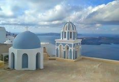 Thira Thera, Santorini ö, Grekland Royaltyfria Bilder