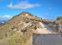 Thira Thera, Santorini ö, Grekland Royaltyfria Foton