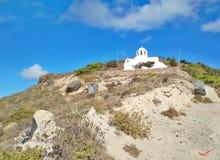 Thira Thera, Santorini ö, Grekland Royaltyfri Foto