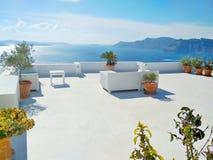 Thira Thera, Santorini ö, Grekland Arkivbilder