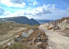 Thira Thera, Santorini ö, Grekland Royaltyfri Bild