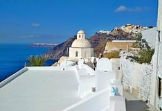 Thira Thera, Santorini ö, Grekland Arkivbild