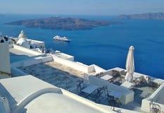 Thira Thera, Santorini ö, Grekland Royaltyfri Fotografi