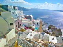 Thira Thera, Santorini ö, Grekland Arkivfoto