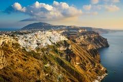 Thira town on Santorini island, Greece royalty free stock photography