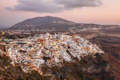 Thira town on Santorini island in Greece Royalty Free Stock Photos