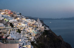 Thira View. Panoramic view of Thira village in santorini Greece Stock Images