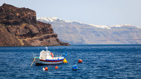 Thirasia Island Santorini Greece Europe Stock Image