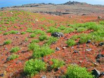 Thirasia Island volcano in Santorini Royalty Free Stock Photo