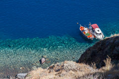 Thirasia Santorini Greece Royalty Free Stock Images