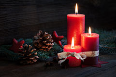 Third advent. With candles and decoration Stock Photos