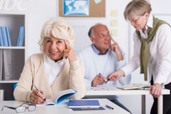 Third age university classroom Stock Images