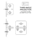 Third Angle Orthographic Projection Stock Photography