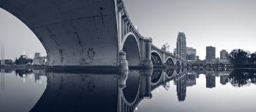 Third Avenue Bridge Minneapolis. stock photo