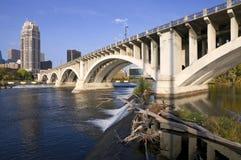 Third Avenue Bridge in Minneapolis Royalty Free Stock Image
