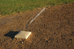 Third Base. Of Baseball Field Stock Images